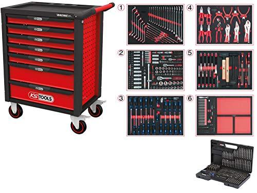 KS Tools 826.7598 Noir/Rouge RACINGline Servante d'atelier 7 tiroirs et 598 Outils d'excellente qualité