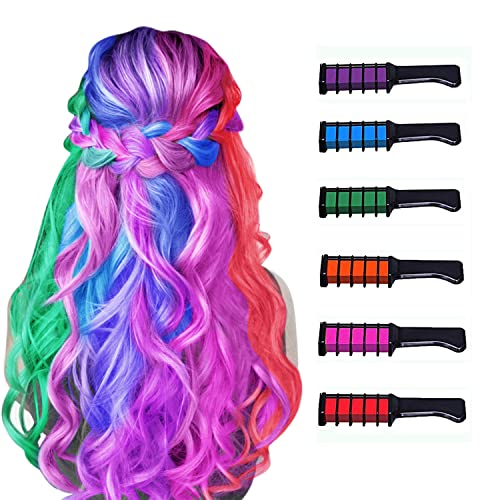 New Hair Chalk Comb Temporary Hair Color Dye for Girls Kids, Washable...