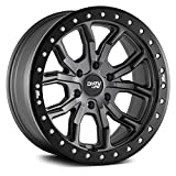 DIRTY LIFE DT-1 (9303) GRAY Wheel with Matte Gunmetal with Simulated Ring (0 x 9. inches /5 x 127 mm, -12 mm Offset)