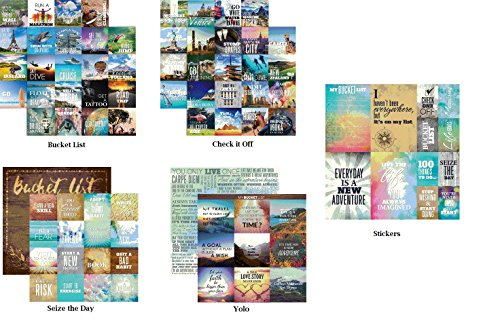 Bucket List 12x12 Scrapbook Papers & Stickers Set by Reminisce