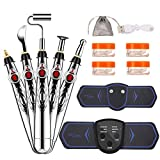 MYAMZ YZH Electric Stimulation Electronic Acupuncture Pen with 5 Massage Heads, 6-Mode Muscle Stimulator for Pain Relief, Electronic Pulse Massager and Muscle Massager.