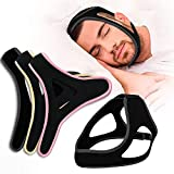 ANDERK 3 Pack Anti Snoring Chin Straps, Ajustable Stop Snoring Devices Head Band Snore Stopper Chin Straps...