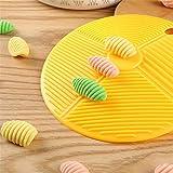 Italia Molde para hacer macarrones Espaguetis caseros Pasta Tablero Concha Pasta Tabla de lavar Ñoquis Máquina de bricolaje Masa Fideos Prensa Hogar Cocina Herramientas (2 piezas)