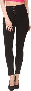 Jannon Black Color Slim Fit Denim for Women & Girl with 5 Button