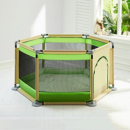 Dongyd Parc pour Enfants, Aire de Jeux intérieure de clôture pour Les Tout-Petits, clôture de sécurité portative pour Enfants (Couleur : Green)