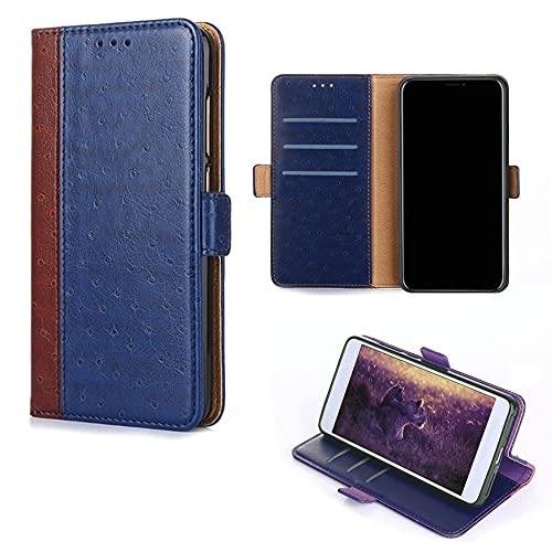 TNWGKPT Flip Funda para Samsung Galaxy J7 Sky Pro Funda Carcasa Case Cover [Azul]