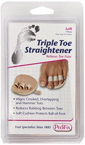 PediFix Triple Toe Straightener, Left Foot