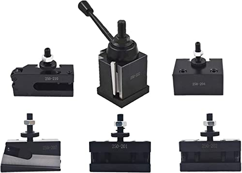 """lowest Bxa 250-222 Tool Post Set QC Wedge Type Quick outlet sale Change Turning and Facing Holders for online Lathe Swing 10""""-15"""" (6) online"""