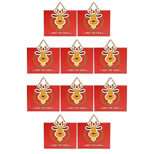 Torba Kreatywny prezent Etui Ełk Tote Torba Artykuły świąteczne 10 sztuk (czerwony)
