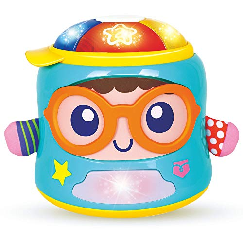 Happy Baby Soother & Activity Toy – Tumbler Baby Toy for Crawling and Sitting Babies –Educational Baby Sensory Toy with Lights, Words and Music – for Babies and Toddlers 6+ Months