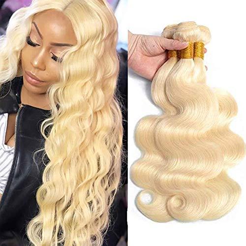 613 Bundles Blonde Bundles 9A Grade Brazilian Body Wave 1 Bundles(14 inch) Blonde Human Hair Bundles 100% Virgin Human Hair Bundles Hair Extensions 613 Bundles