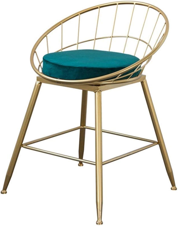 BARSTOOLRI Bar Stool, Iron Art Ergonomics Nordic Modern Metal High Chair with Backrest for Bar Counter Garden Home (Size   Short)