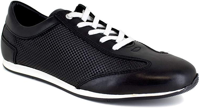 J.Bradford Sneaker Black Leather JB-IRAZU