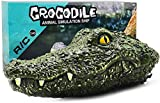 RC Boat Electric Racing Boat, 2.4G High-Speed Simulation Remote Control Alligator Head, Waterproof Prank Toys for Pools and Lakes, Floating Crocodile Head