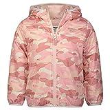 Osh Kosh Baby Girls' Midweight Jacket with Fleece Lining, Pink/White Camo, 18MO