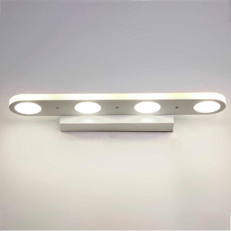 Dreifarbige Dimmen Bad Led Spiegel Vorne Lichter Bad Wasserdicht Anti-Fog Wand Lampe Make-up Lichter +A (gre   A-38 cm)