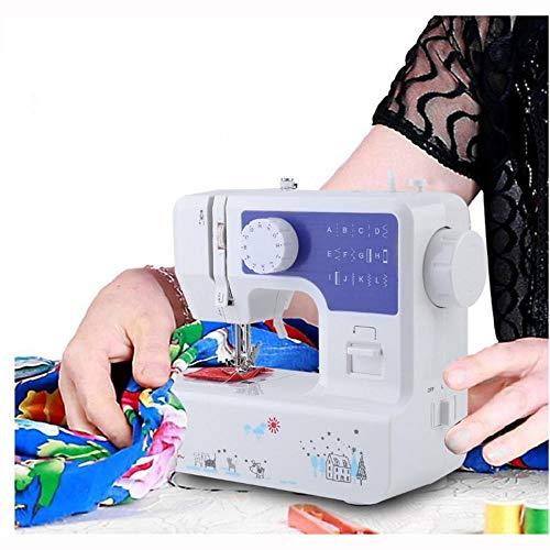 Mini máquinas de Coser portátiles de Mano Puntada Costura Costura Ropa inalámbrica Telas Electrec Máquina de Coser Juego de Puntadas-1_Enchufe DE Estados Unidos