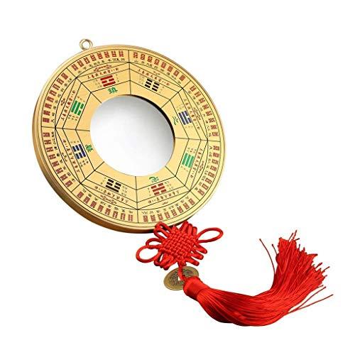 Adornos de Feng Shui/Feng Shui Árbol de la Riqueza Feng Shui Chino Tradicional Espejo Bagua Convexo y Espejo Bagua cóncavo Espejo de Bronce Puerta Casa Colgante para el hogar EST