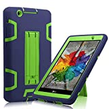 Cherrry for G Pad X 8.0 / LG GPad III 3 8.0 Case,Shock Proof [Impact Resistant] [Corner Protection] [Built-in Bracket] Protective Cover for LG G Pad X 8.0 / LG GPad III 3 8.0 Inch(Navy Blue/Green)