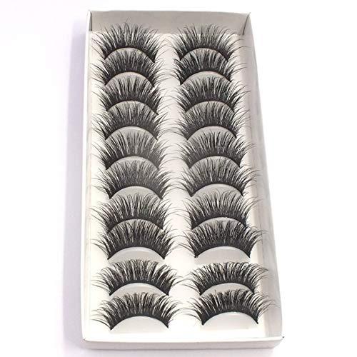 3D Stereoscopic Multilayer False Eyelashes Thick Natural Handmade Full Strip Lashes Style False Eyelashes for Gilr Beauty