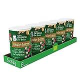 Gerber Organic Trigo y Arroz con Frambuesa 35 g - Pack de 5