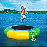Inflatable Water Trampoline | 6.5FT Splash Padded Water Bouncer,Safety Jumping Bouncers Splashing Water Pool,Water Park Play Center for Adult Kids (from US, Multicolour)