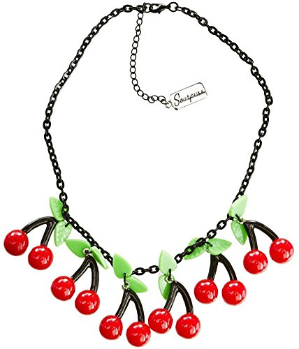 Bombshell Cherry Necklace from Sourpuss Clothing, Multi-colored, One Size
