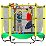 Asee'm 60' Trampoline for Kids with Net - 5 FT Indoor Outdoor Toddler Trampoline with Safety Enclosure for Fun, Toddler Baby Small Trampoline Birthday Gifts for Kids, Gifts for Boy and Girl, Age 1-8