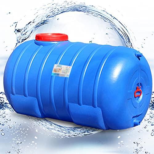 WWJQ Almacenamiento De Agua Contenedor De Agua para Hogar, Tanque de Agua de Gran Capacidad, Barril De Vino Redondo, Azul, con Tapa