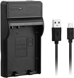 [Cargador rápido] Cargador rápido USB EN-EL14a para Nikon ENEL14 / EN-EL14a Batería de cámara Nikon D3100 D3200 D3300 D3400 D5100 D5200 D5300 D5500 D5600 DF DSLR Coolpix P7000 P7100 P7700