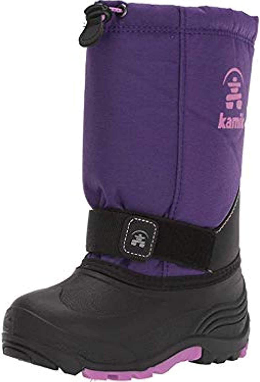 Kamik Kids Rocket Winter Boots & Knit Cap Bundle