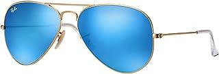 RB3025 112/17 Aviator Sunglasses Matte Gold / Blue Mirror Lens 58mm