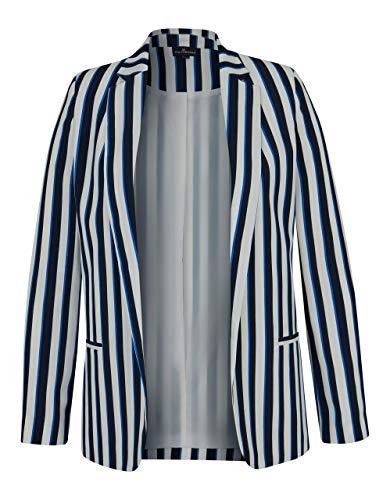 Via Cortesa by Adler Mode Damen modischer Streifen-Blazer Marine/weiß 36