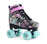 Sfr Skates Vision Canvas Quad, Pattini Unisex – Ragazzi, Multicolore (Floral), 37