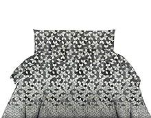 Exotic Cotton Funda Nórdica 100% Algodón para Cama de 90 – 1 Funda de Edredón 160x220cm, 1 Bajera Ajustable 90x200cm y 1Funda de Almohada 50x70cm – Juego de Sábanas Nórdicas de 3 Piezas
