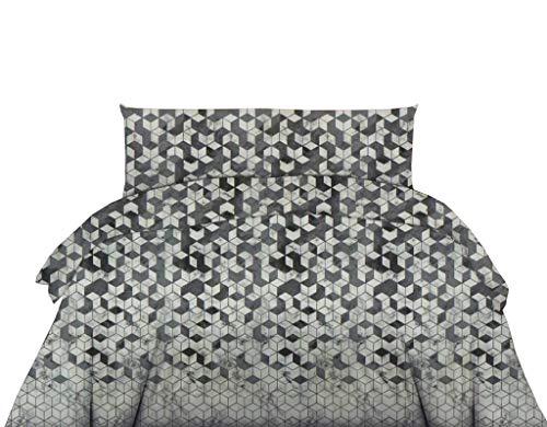 Exotic Cotton Funda Nórdica 100% Algodón para Cama de 135 – 1 Funda de Edredón 220x240, 1 Bajera Ajustable 135x200 y 2 Fundas de Almohada 50x70 – Juego de Sábanas Nórdicas de 4 Piezas