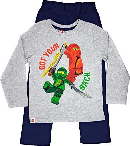 LEGO Ninjago Schlafanzug Pyjama Jungen (Hellgrau, 104)