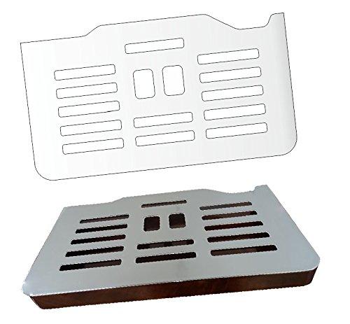 3 x Schutzfolie für DeLonghi PrimaDonna ESAM 6900 M & 6850 - Abtropfblech - Tassenablage - Abstellblech
