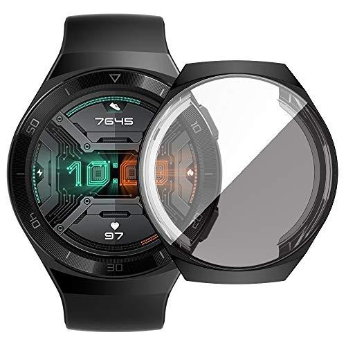 Reloj de la Pantalla For Shell Protector Huawei GT2e Chapado de TPU con Todo Incluido (Negro). (Color : Black)