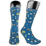 Dydan Tne Calcetines de Tela con Estampado Animal de Cejas fruncidas (6941) Calcetines, Calcetines Bonitos y Bonitos de Animales de Dibujos Animados de Novedad
