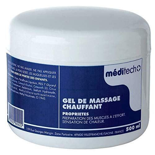Visiodirect Gel de Massage Chauffant - Contenance 500 ML