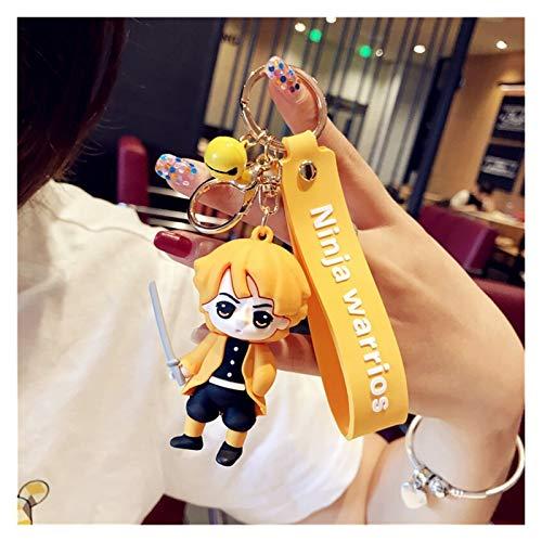 Goqiwep Keychain Anime Demon Slayer Acrylic Keychain Brinco Blade Of Ghost KeyChain Kamado Keyring Pendant Gift (Color : 2)