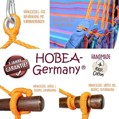 Hängesessel in unterschiedlichen Farben von HOBEA-Germany, Größe Hängesessel:L (bis 120kg belastbar);Farben Hängesessel:Toskana - 4