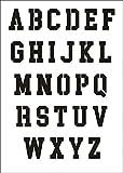 UMR-Design W-642 Font College Wand / Textilschablone Grösse A5