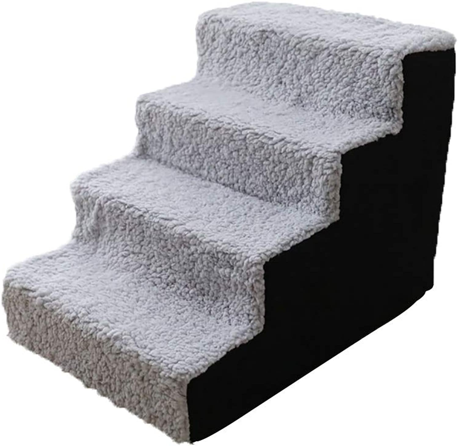Pet stairs 4 Steps, for Large Medium Size Dog Cat Older Pet, Easy Climb Stairs Ladder Assistance, L54×W38×H40cm