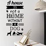 Bande dessinée maison Stickers muraux avec chien guillemets Amoureux des animaux...