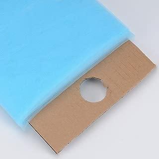 BBCrafts Premium Tulle Fabric Bolt (W: 54 inch | L: 40 Yards) (Light Blue)