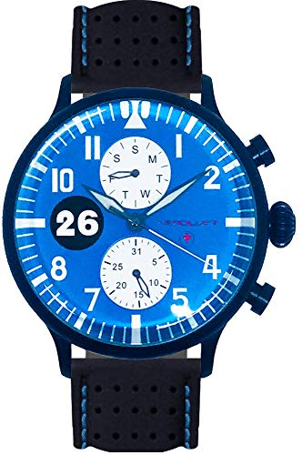 Rennfahreruhr Blaue Motorsport Uhr Type 1 Reims - Gueux