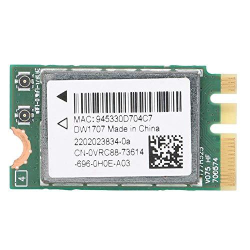 ASHATA Drahtlose Netzwerkkarte für Dell DW1707, M.2 NGFF 300M Bluetooth4.0 WiFi-Karte, mit Qualcomm Atheros QCA9565 QCNFA335-Chip, universelle PC-Netzwerkkarte mit NGFF M2 WiFi-Steckplatz