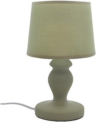 Zons Lampe À Poser Céramique Mat 4 Couleurs D15xH30cm Vert
